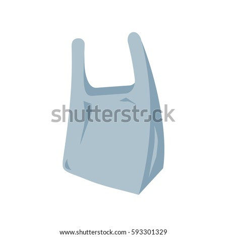 Plastic bag icon. Vector illustration flat design