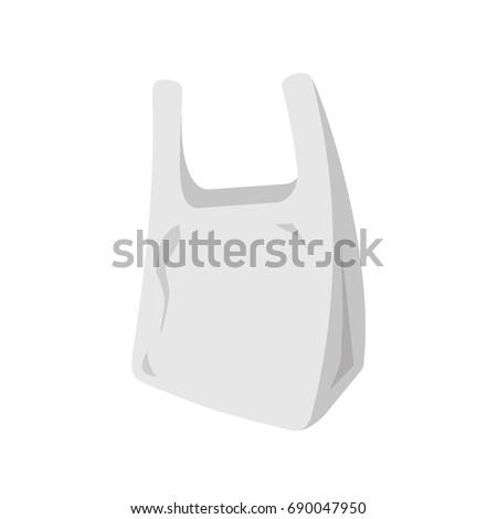 Plastic bag icon. Vector illustration flat design