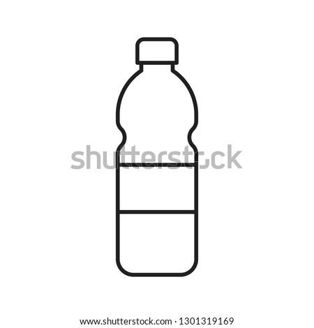 Plastic bottle vector illustration, line design icon Сток-фото ©