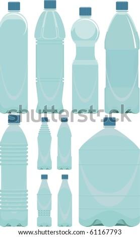 plastic bottle white Plastic Bottle Vector