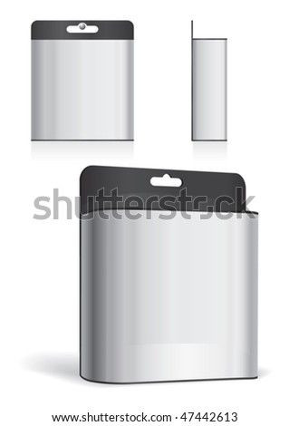 Plastic box on white background, vector