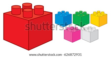 plastic building blocks  toy
