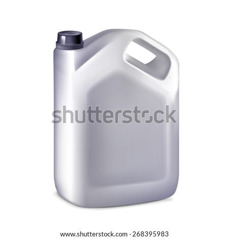 plastic canister isolated on