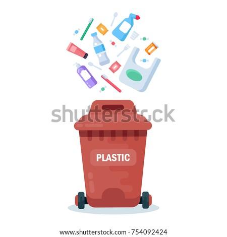 plastic container for plastic