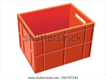 Plastic crate isolated on white