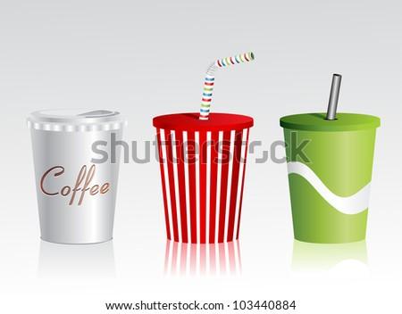 Plastic cup set