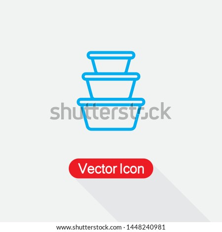 Plastic Food Containers Icon,Food Containers Icon Vector Illustration Eps10