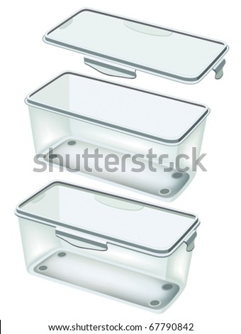 Plastic food storage container vector