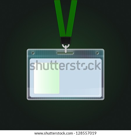 Plastic ID Badge. Identification card icon. Vector identification cards template, eps 10
