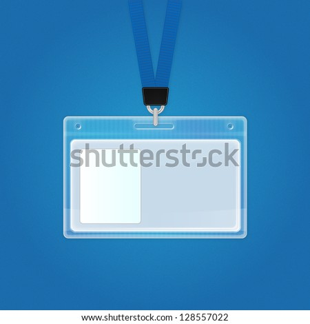 Plastic Id Badge. Identification Card Icon. Vector Identification