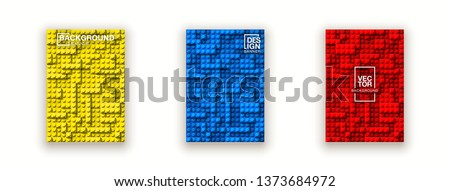Plastic lego construction blocks background illustration isolated on white. Plastic bricks wall design banner set. colorful cover page banner block building constructor realistic different lego parts