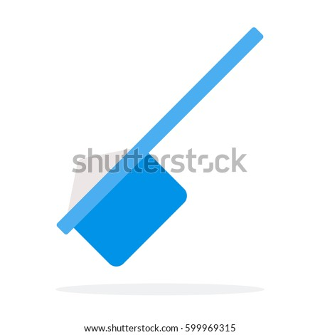 Plastic measuring fitness spoon vector flat material design isolated on white