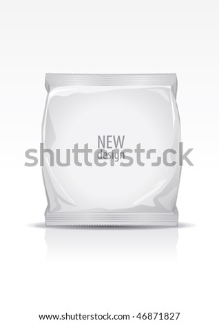 Plastic packaging, for new design, vector