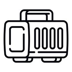 Plastic pet portable box icon. Outline plastic pet portable box vector icon for web design isolated on white background