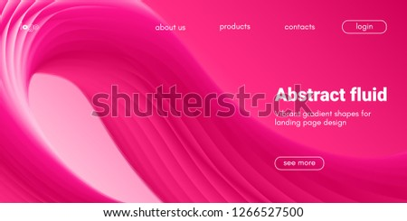 Plastic Pink Wave Background. Art Brush Paint, Abstract Fluid Design. Landing Page Trendy Flow Concept. 3d Wave Poster with Liquid Shape in Movement. Vector Gradient Futuristic Banner, Wave Wallpaper.