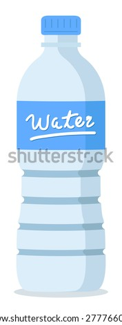 plastic recycled blue water