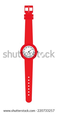 plastic watches isolated on