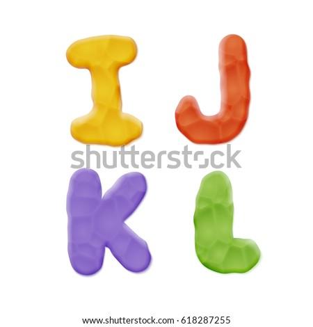 plasticine i  j  k  l letters