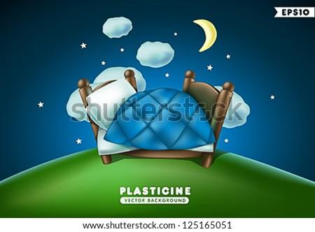 plasticine night background