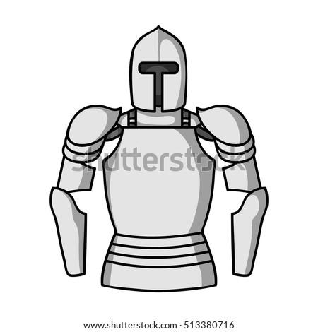 plate armor icon in monochrome