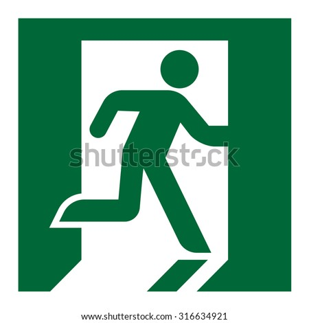 plate fire exit vector sign