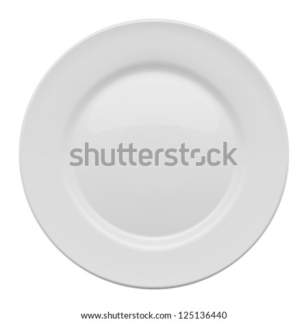 Plate on white background. Vector illustration