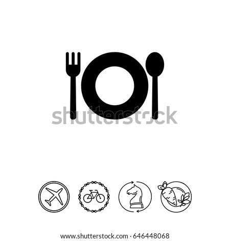 Plate with fork and spoon