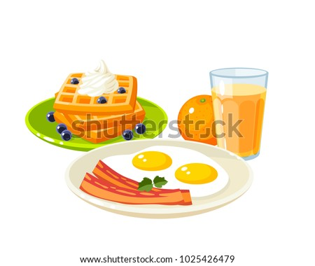 plate with fried eggs and