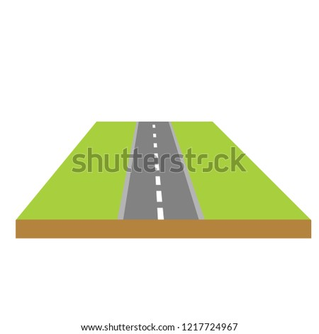 platform with a road to the