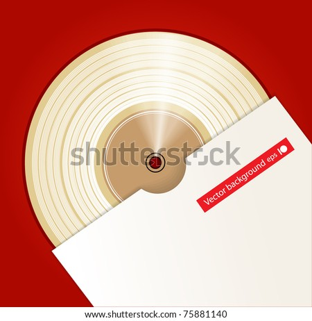 Platinum CD prize with cover - stock vector