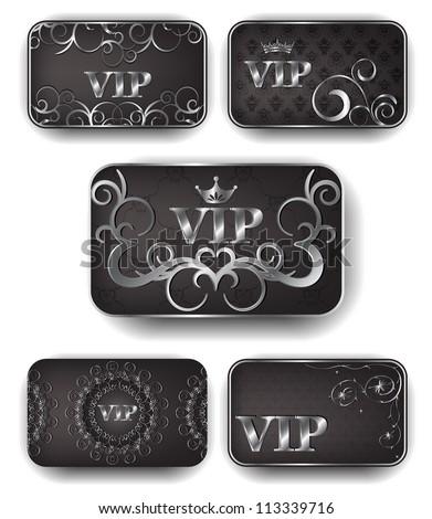 Platinum vip cards in vector