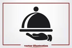 platter icon vector illustration.