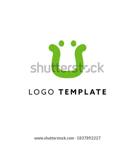 Platypus abstract geometric logo design. Eco minimalizm style symbol  Stok fotoğraf ©