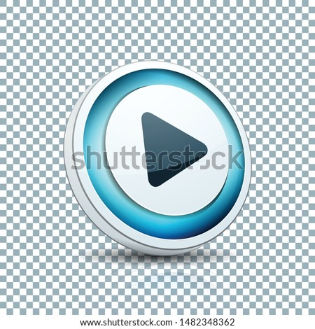 Play Arrow Button sign transparent background  illustration #1482348362