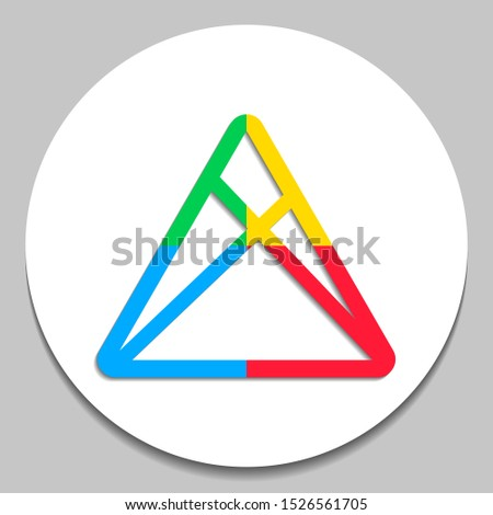 play button abstract colorful