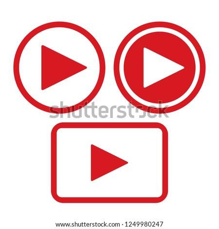 play button icon #1249980247
