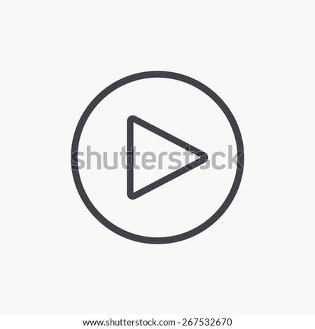 play button icon #267532670