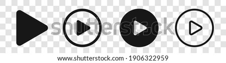 Play Button Icon Circle vector set | Video Audio Player Symbols isolated | - stock vector Photo stock ©