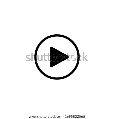 Play button icon design. Illustration of play button. Play Vector icon. Video play button symbol.