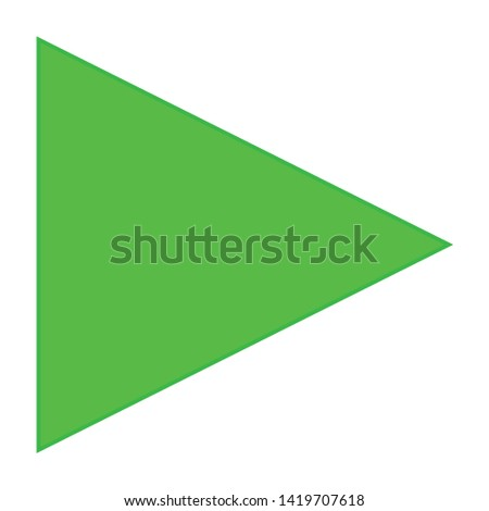 Play button icon. flat illustration of Play button vector icon for web
