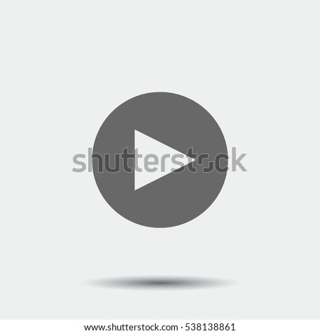 Play Button Icon illustration isolated vector sign symbol