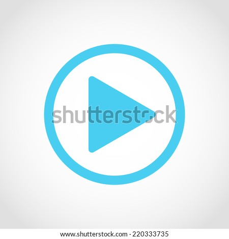 Play button Icon Isolated on White Background