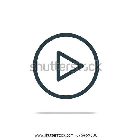 Play Button Icon Logo Template #675469300