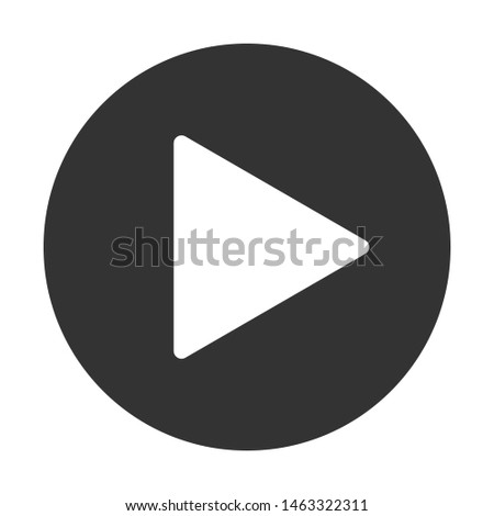 Play button icon. Music and video forward click shape symbol. Push arrow start player media. New EPS 10 Vector illustration