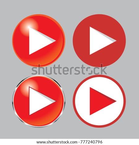 play button icon set , play icon, you tube icon #777240796