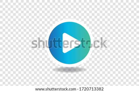 Play Button icon sign and symbol. Play Button icon for website design and mobile app development. Simple Element from collection for mobile concept and web apps icon.