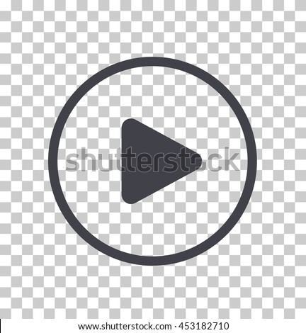 Play button icon, Vector #453182710