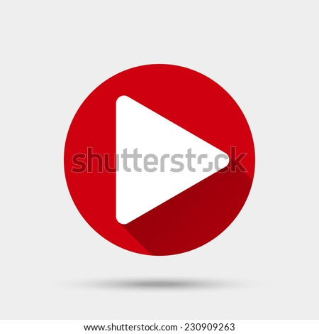 Play button icon. Vector illustration