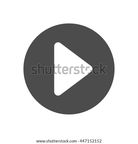 Play button icon. Vector illustration