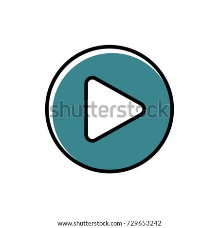 Play button icon vector illustration